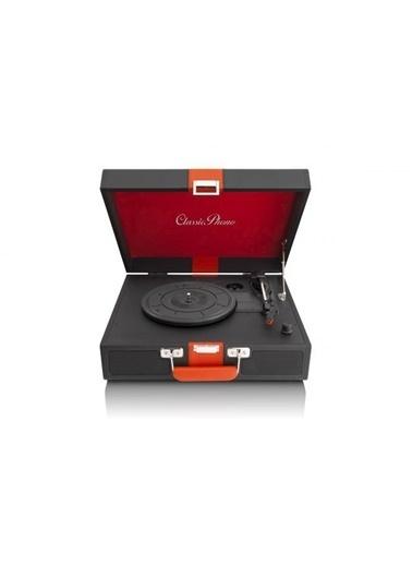 Lenco Classic Phono TT-33 Ahşap Deri Kaplı Pikap Siyah Plak Çalar Siyah